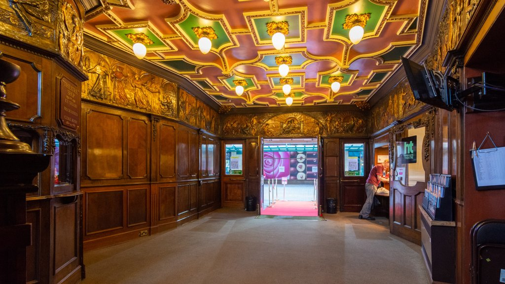 Harrogate Theatre showing interior views and heritage elements