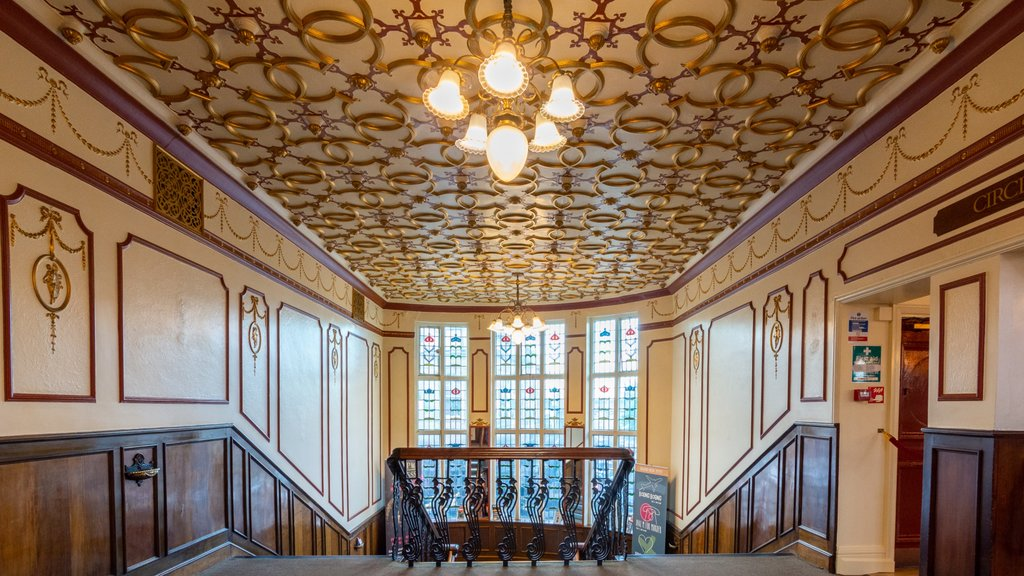 Harrogate Theatre featuring heritage elements and interior views