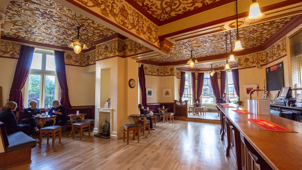 Harrogate Theatre showing heritage elements, cafe lifestyle and interior views