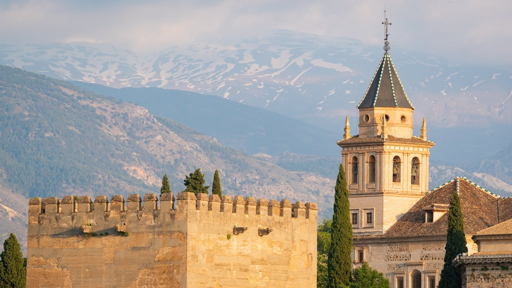 Alhambra featuring landscape views, heritage architecture and chateau or palace