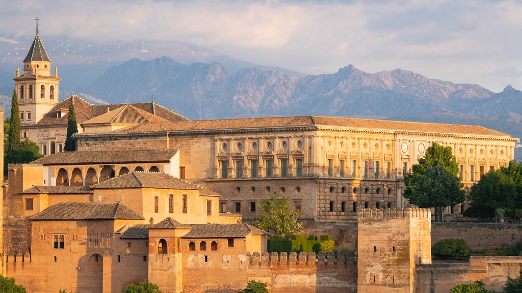 Alhambra which includes chateau or palace, heritage architecture and landscape views