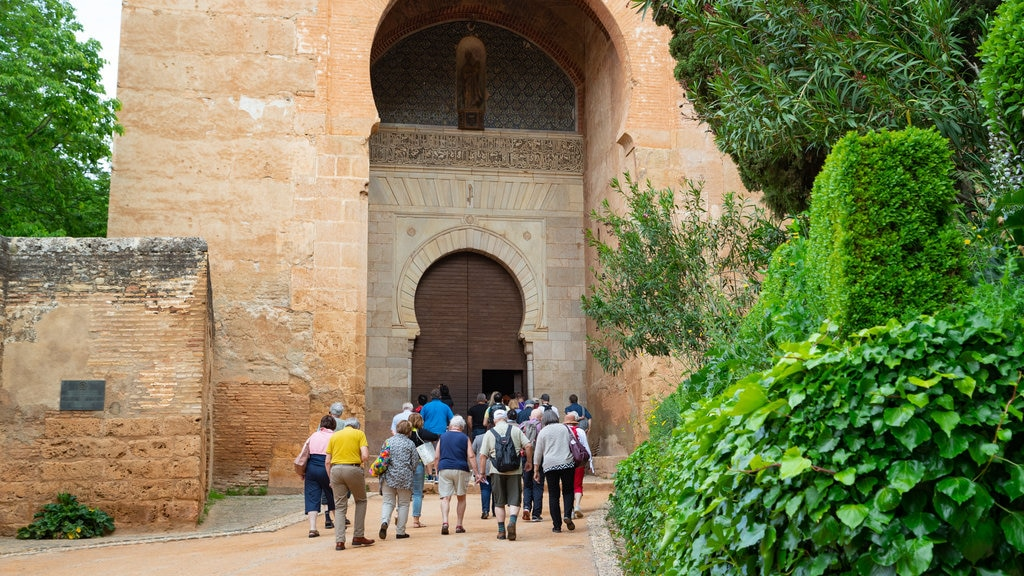 Alhambra which includes heritage elements as well as a small group of people