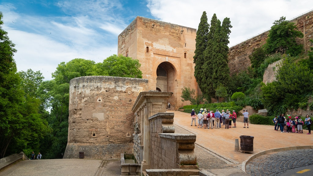 Alhambra featuring heritage elements as well as a small group of people