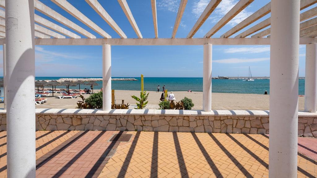 Los Boliches Beach featuring general coastal views and a beach