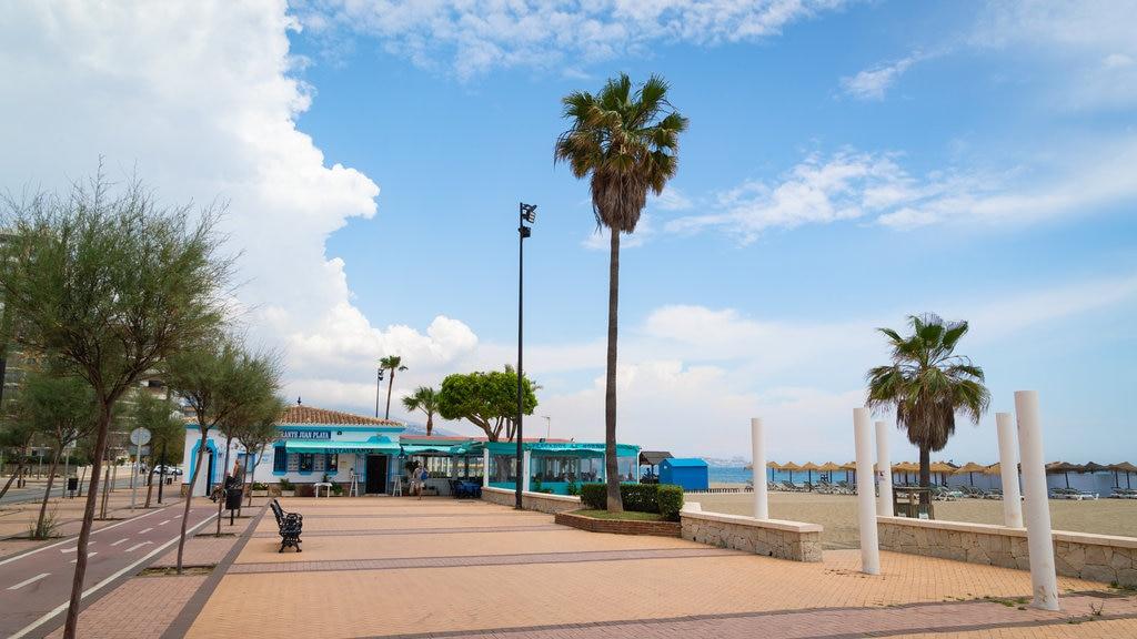 Playa Las Gaviotas ofreciendo vistas generales de la costa