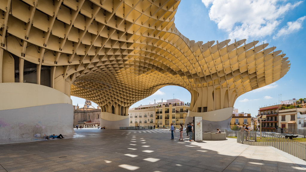 Metropol Parasol featuring outdoor art and modern architecture