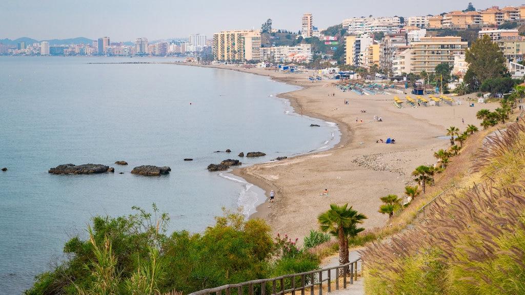 Carvajal Beach showing general coastal views, a coastal town and a sandy beach