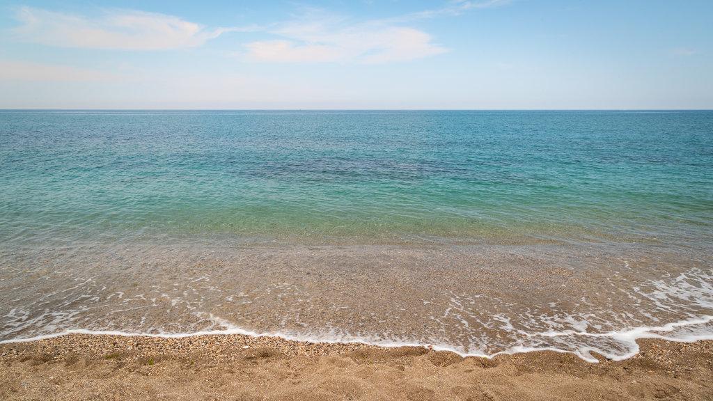 El Castillo Beach showing general coastal views and a beach