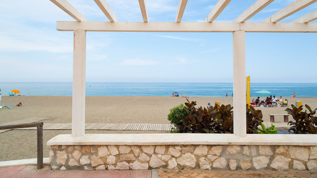 El Castillo Beach which includes a beach and general coastal views