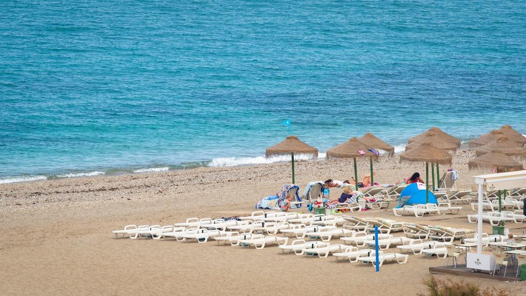 El Castillo Beach showing a sandy beach and general coastal views