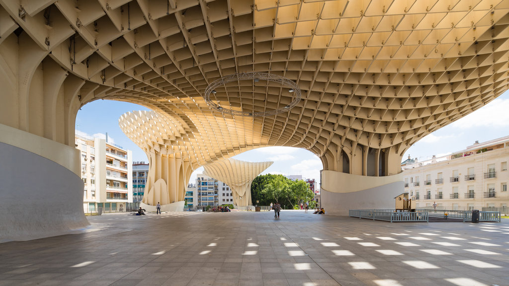 Metropol Parasol featuring modern architecture
