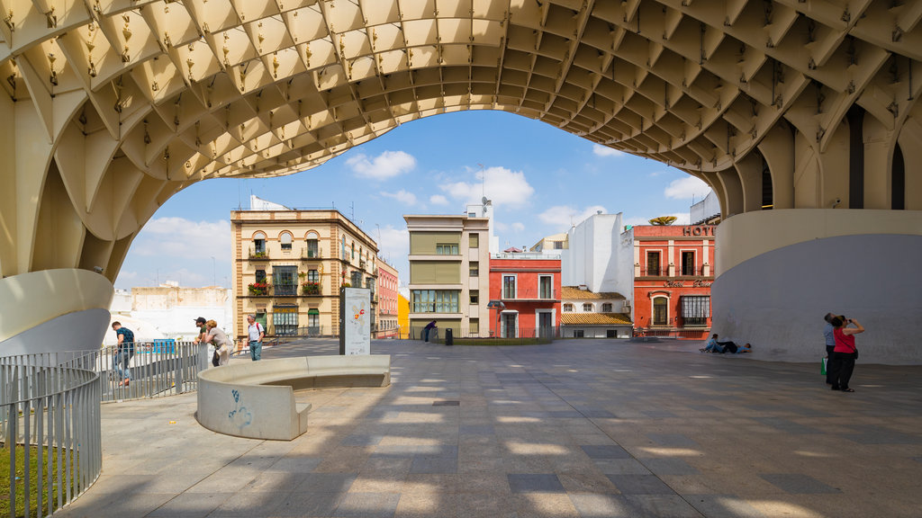 Metropol Parasol which includes modern architecture