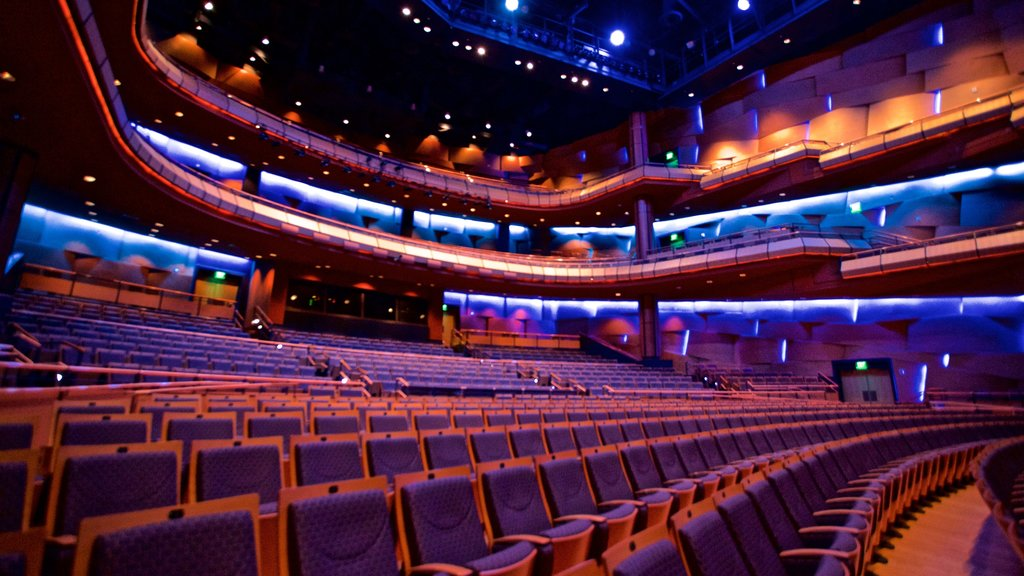 Mesa Arts Center featuring theater scenes and interior views