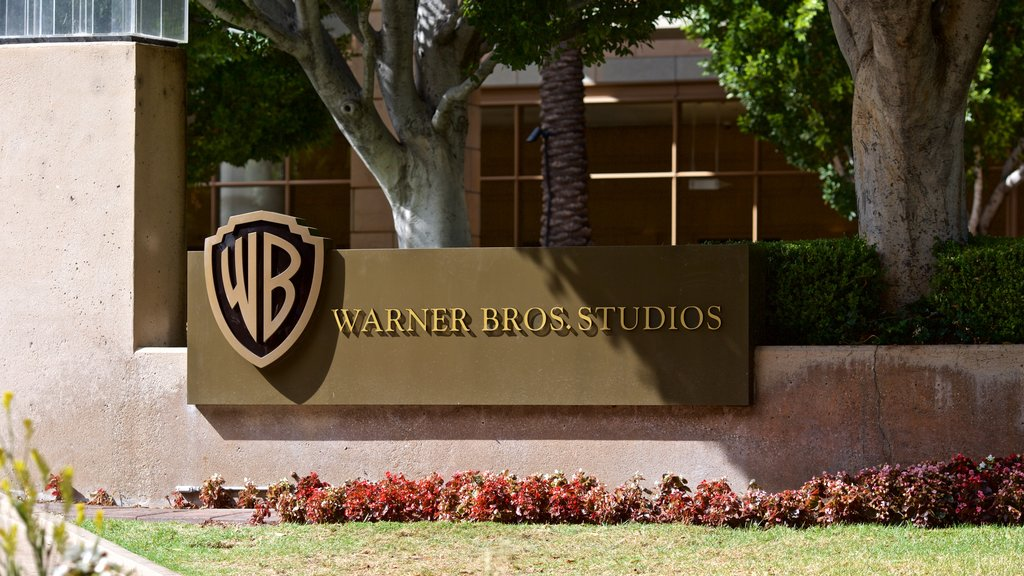 Warner Brothers Studio which includes signage
