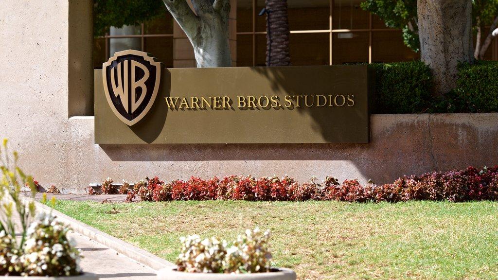 Warner Brothers Studio showing signage