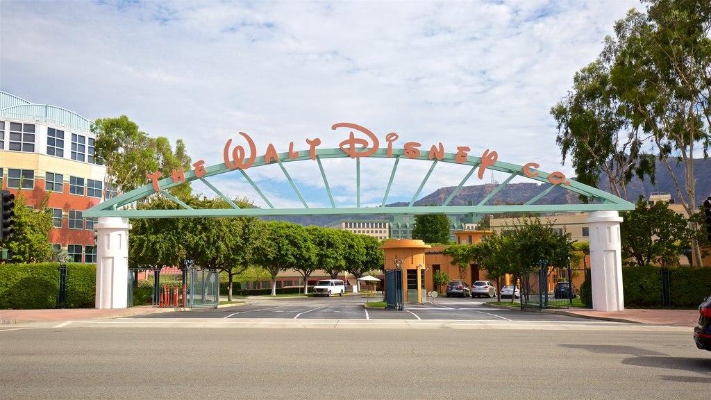 Walt Disney Studios which includes signage