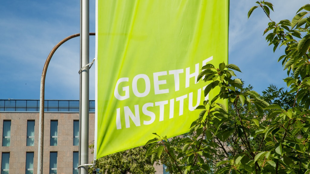 Goethe Institute which includes signage