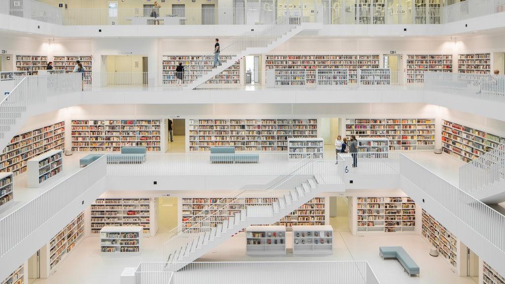 Public Library Stuttgart showing interior views