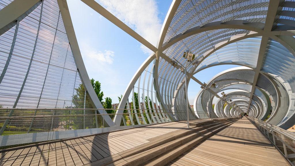 Puente Monumental Parque de Arganzuela which includes modern architecture and a bridge