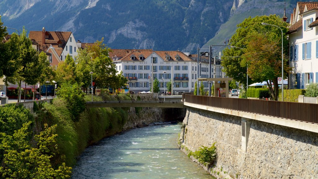Chur which includes a bridge and a river or creek