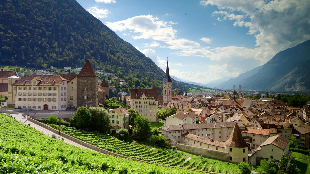 Chur which includes landscape views and a small town or village