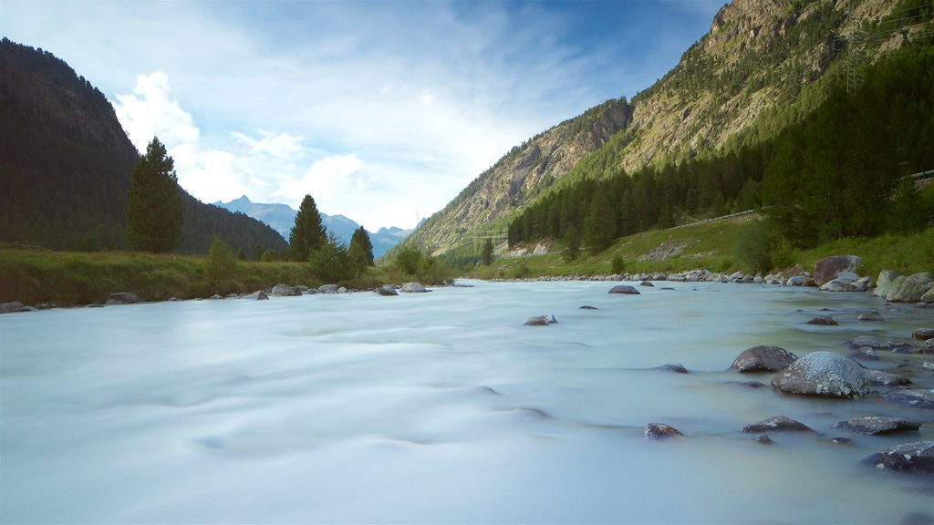 Pontresina which includes a river or creek and tranquil scenes