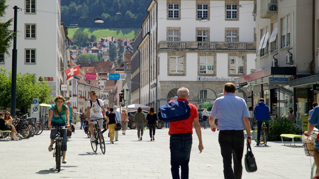 Chur which includes street scenes as well as a small group of people