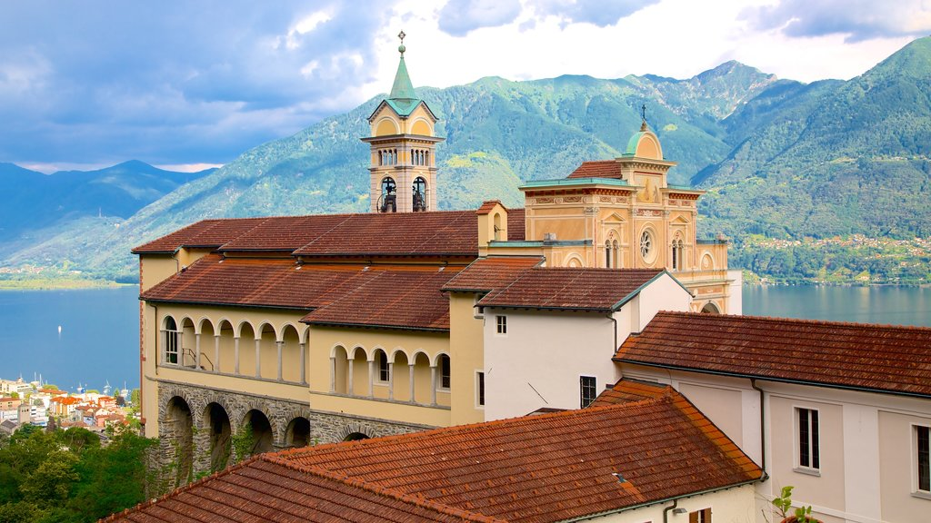 Madonna del Sasso showing heritage architecture and a church or cathedral