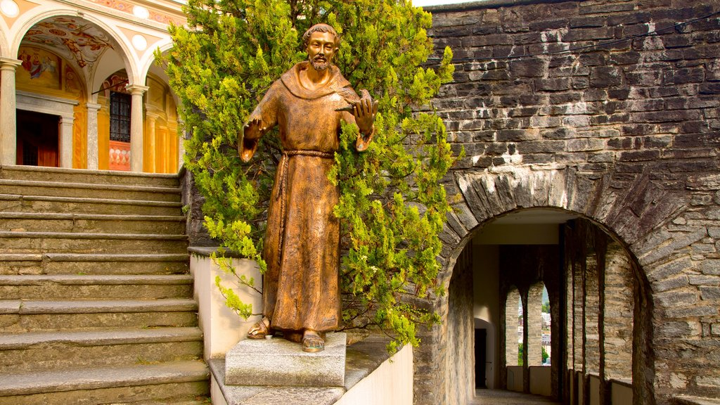 Madonna del Sasso which includes a statue or sculpture and religious aspects