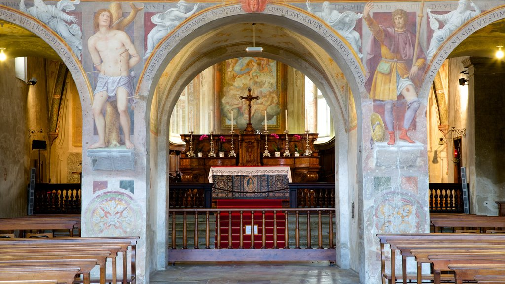 Santa Maria degli Angeli featuring art, interior views and religious elements