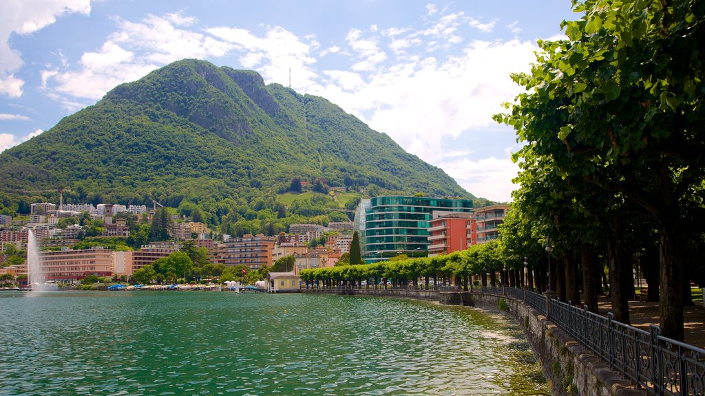 Monte San Salvatore featuring a river or creek and mountains