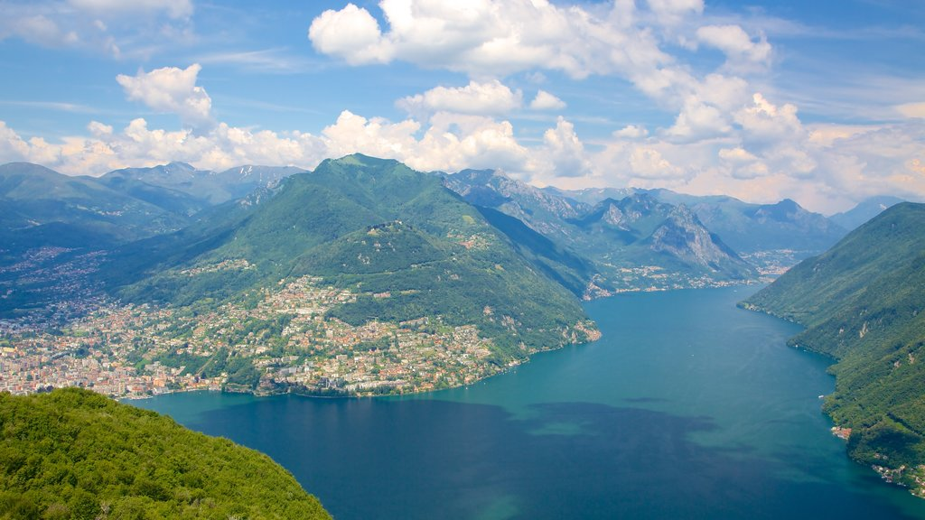 Monte San Salvatore which includes tranquil scenes, a river or creek and landscape views