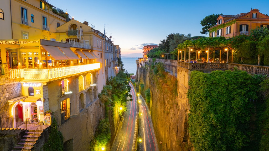 Sorrento showing landscape views and a sunset