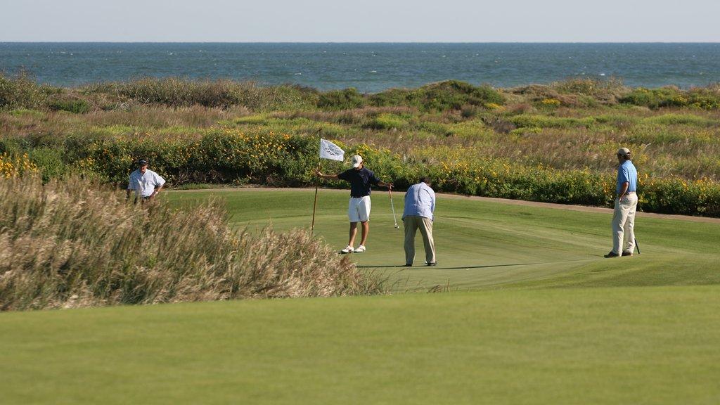 Port Aransas showing golf, a sporting event and a garden