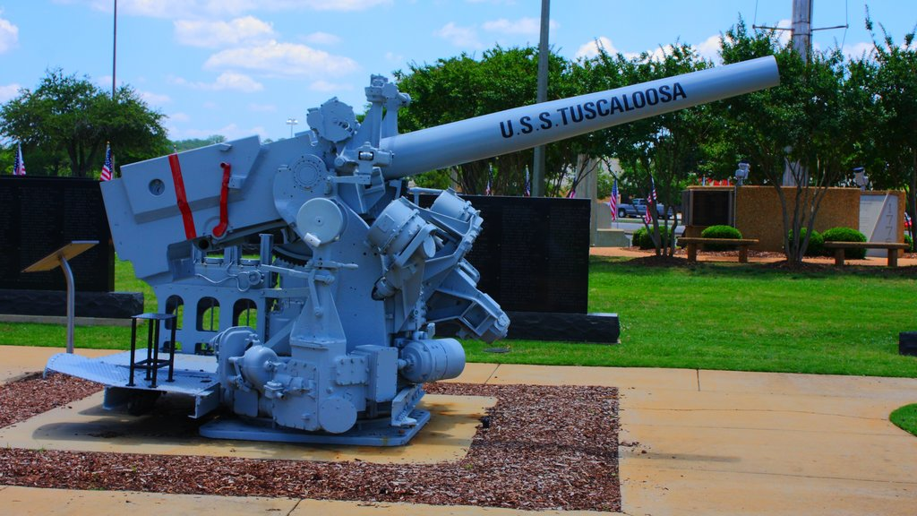 Tuscaloosa which includes military items, a park and a memorial