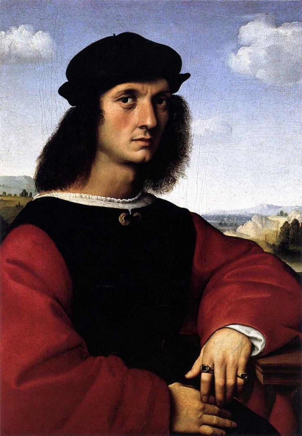 Galleria Palatina, Raffaello, Ritratto di Agnolo Doni-  , via Wikimedia Commons