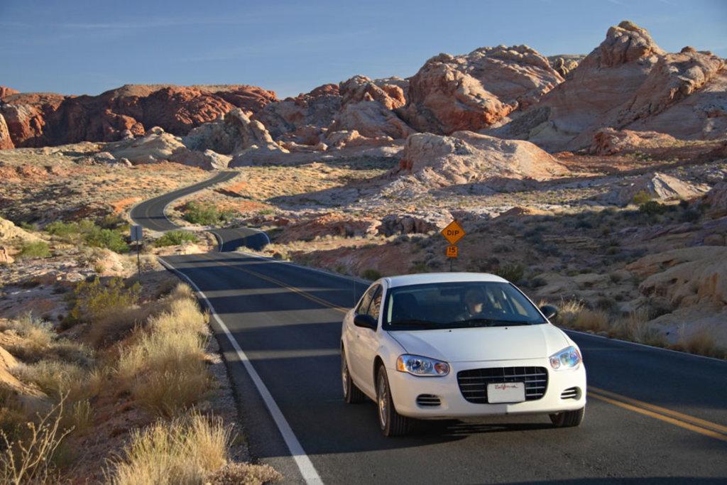 In auto tra i deserti americani