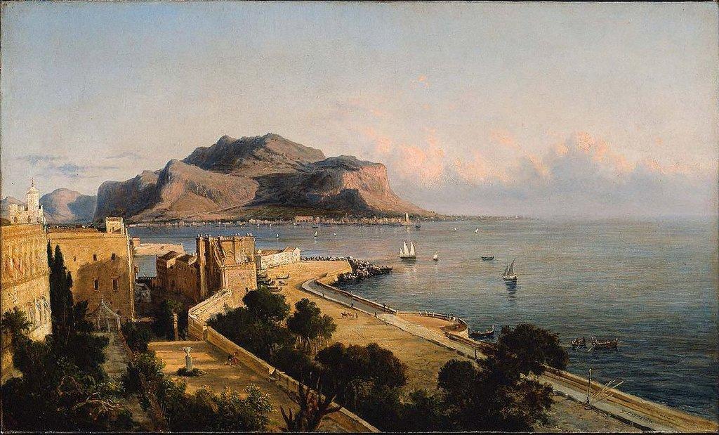 Il Monte Pellegrino dipinto da George Loring Brown. Il quadro è conservato al Museum of Fine Arts a Boston