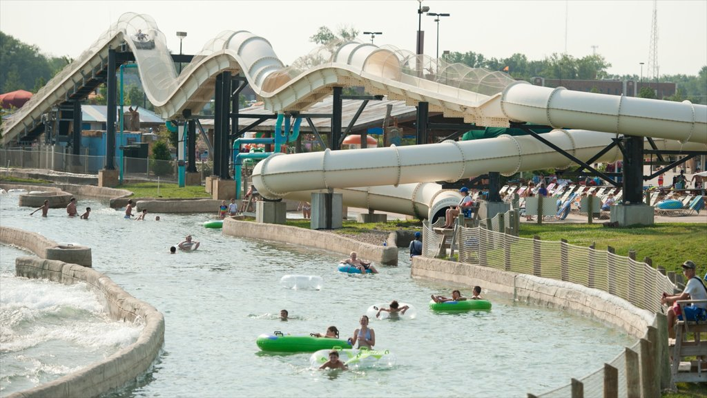 Kansas City which includes a playground, a pool and rides