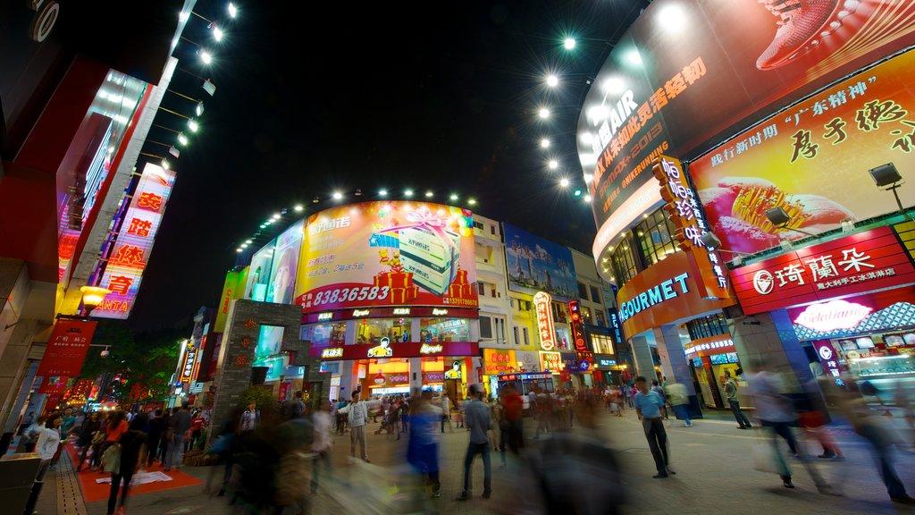 Beijing Road Pedestrian Street showing street scenes, shopping and night scenes