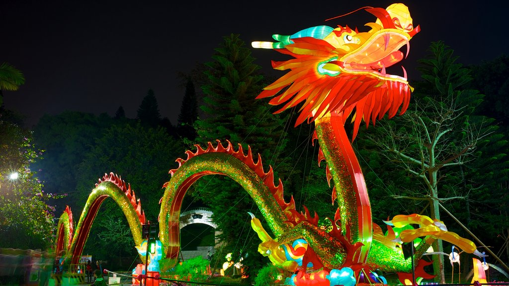 Yuexiu Park which includes outdoor art, rides and a garden