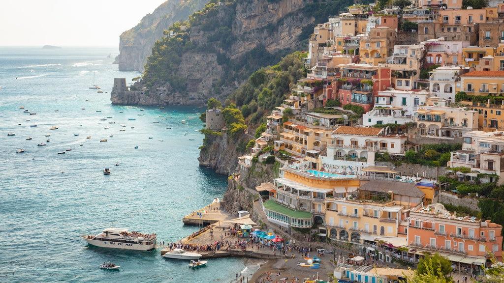 Positano City Centre featuring general coastal views, a coastal town and landscape views