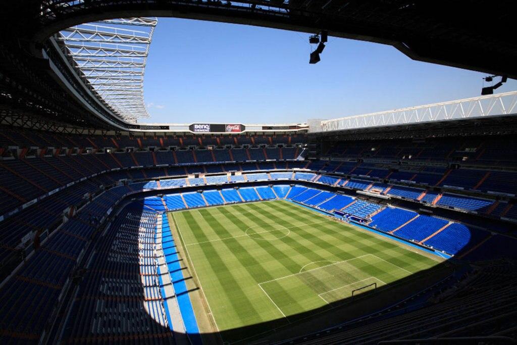 Lo stadio Santiago Bernabéu. Photo credit Alamy