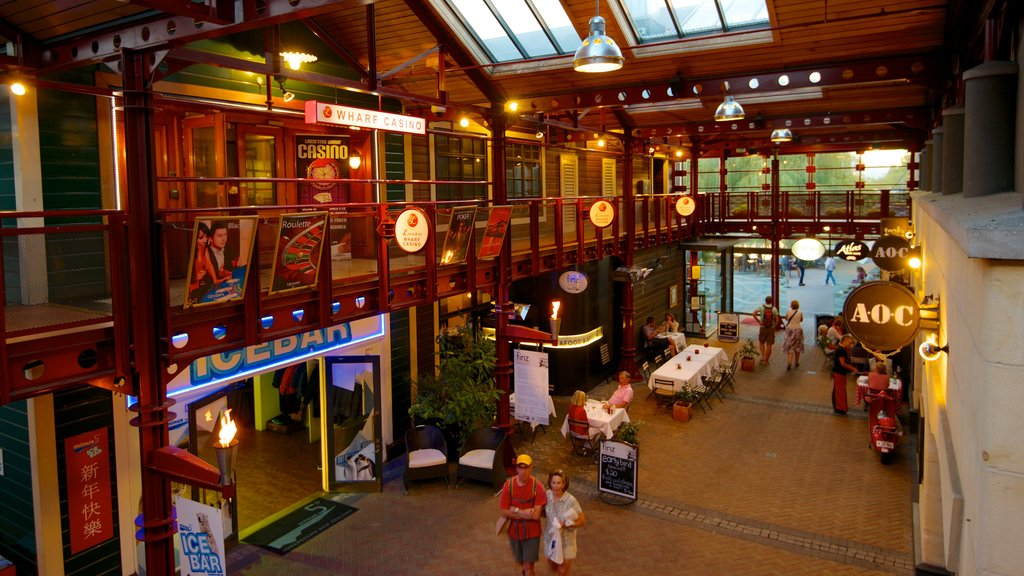 Steamer Wharf which includes interior views, signage and shopping