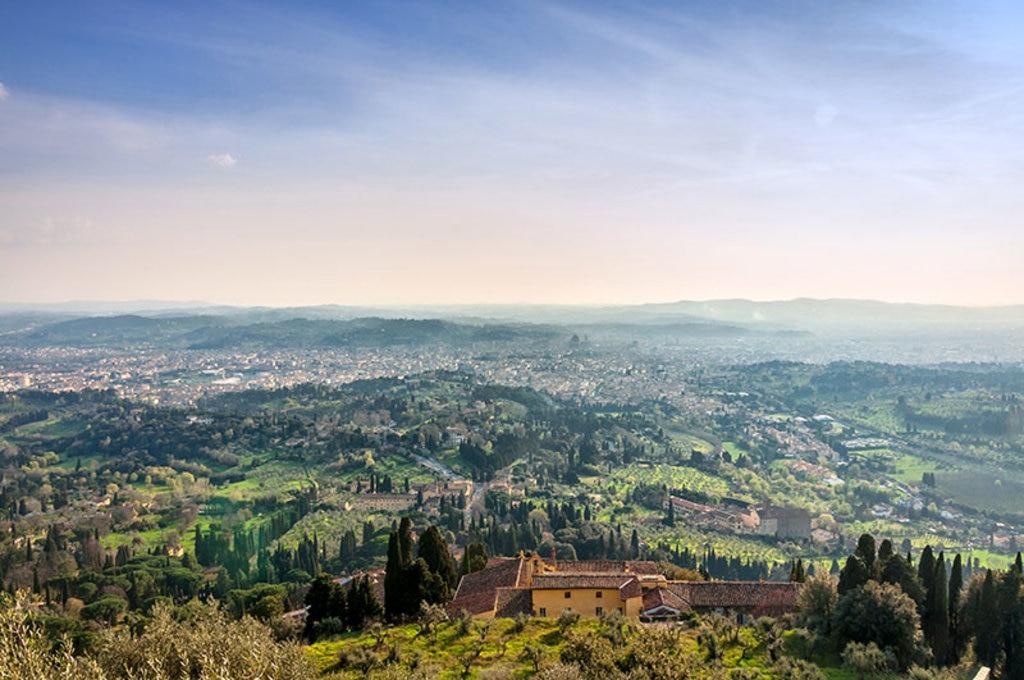 Panorama fiorentino di rara bellezza dalle colline di Fiesole