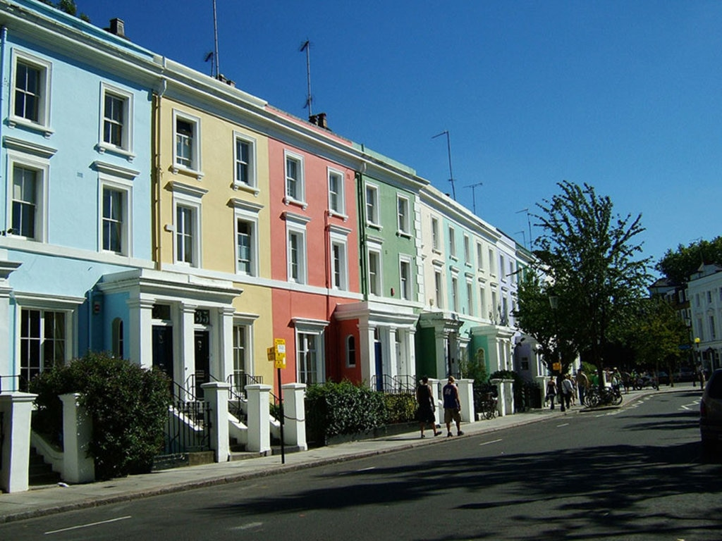 Case colorate a Notting Hill, by S.Pakrin via Flickr