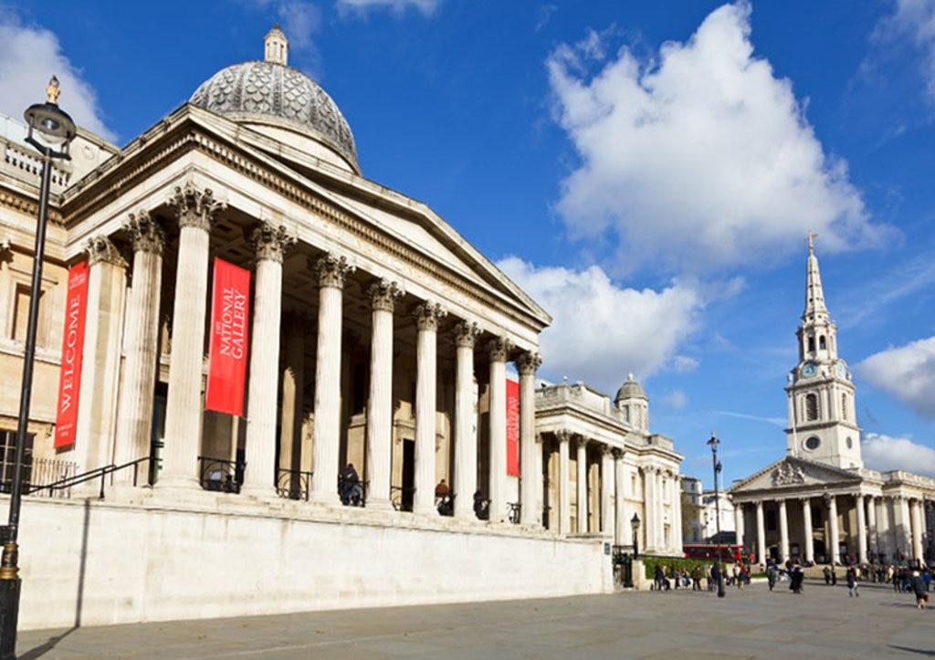 La facciata della National Gallery. Photo credit Shutterstock
