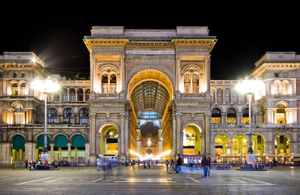 L'ingresso della Galleria Vittorio Emanuele II