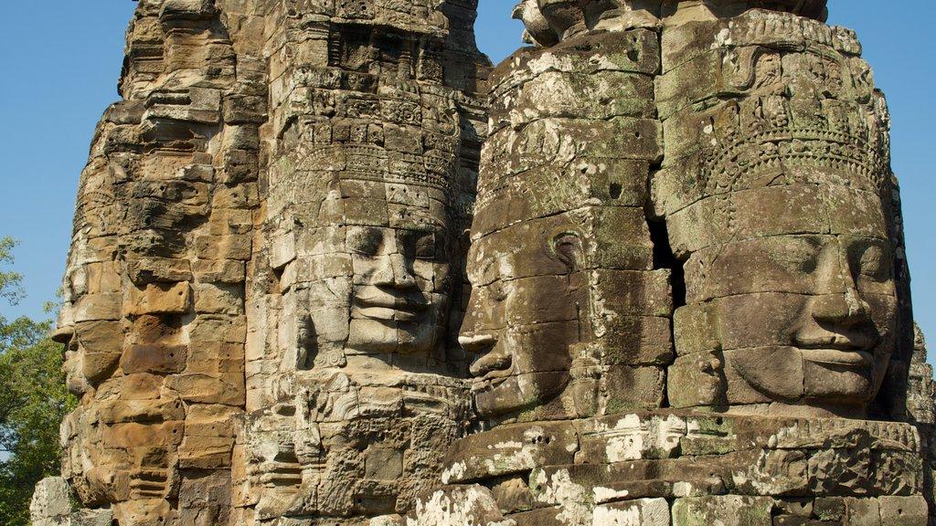 Angkor Bayon mostrando una ruina