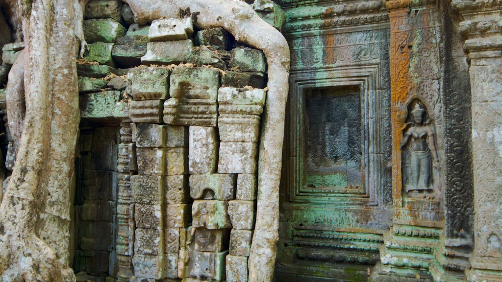 Ta Prohm Temple showing religious elements and a temple or place of worship
